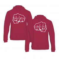 His & Hers Knock hoodies