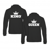 King & Queen Back hoodies