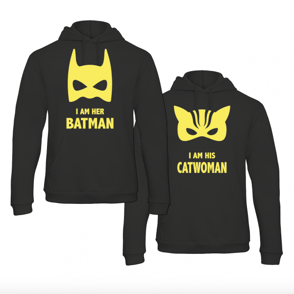 batman & catwoman hoodies