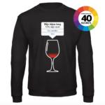 Wijn bijna leeg t-shirt