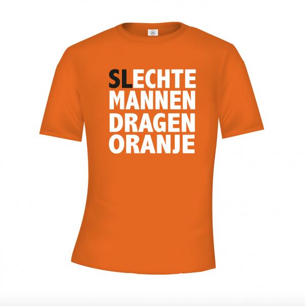 Ehte mannen dragen oranje