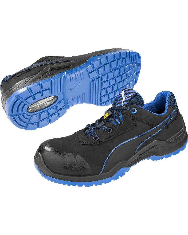 cf080f6ab6d PUMA 64.422.0 Argon Blue Low EN20345 S3 ESD SRC - zwart/blauw ...