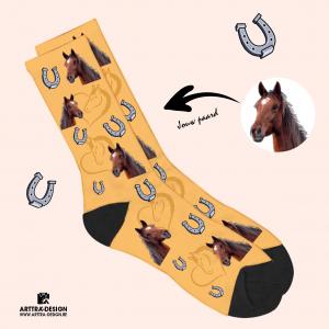 Foto Sokken met foto van paard